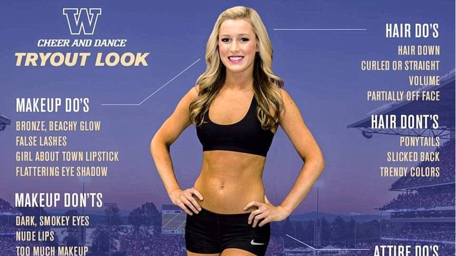What type of bra should a Jr High and High School cheerleader be wearing?