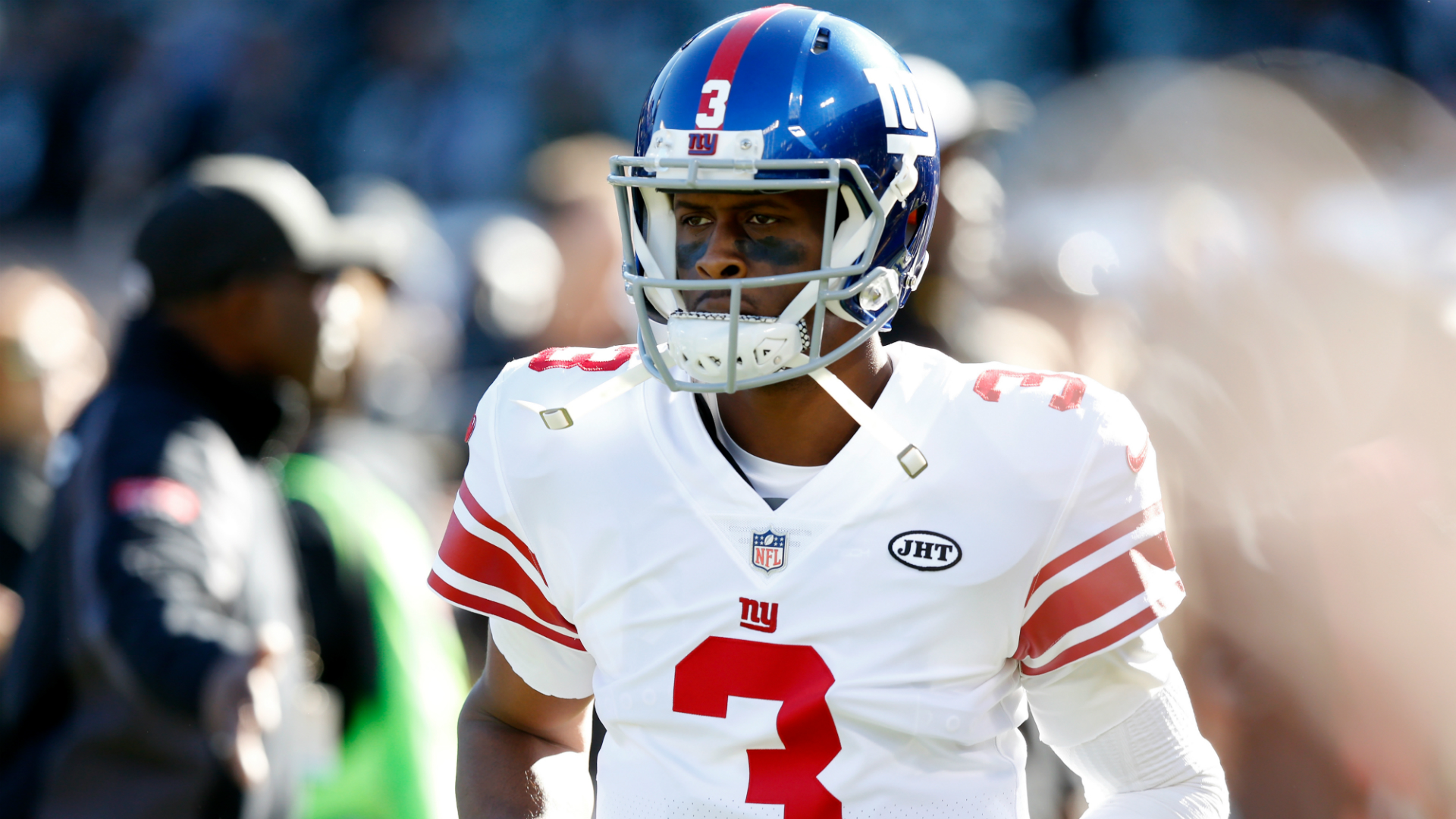 Giants QB Geno Smith won't walk to edge of theorized flat Earth because 'it's restricted'