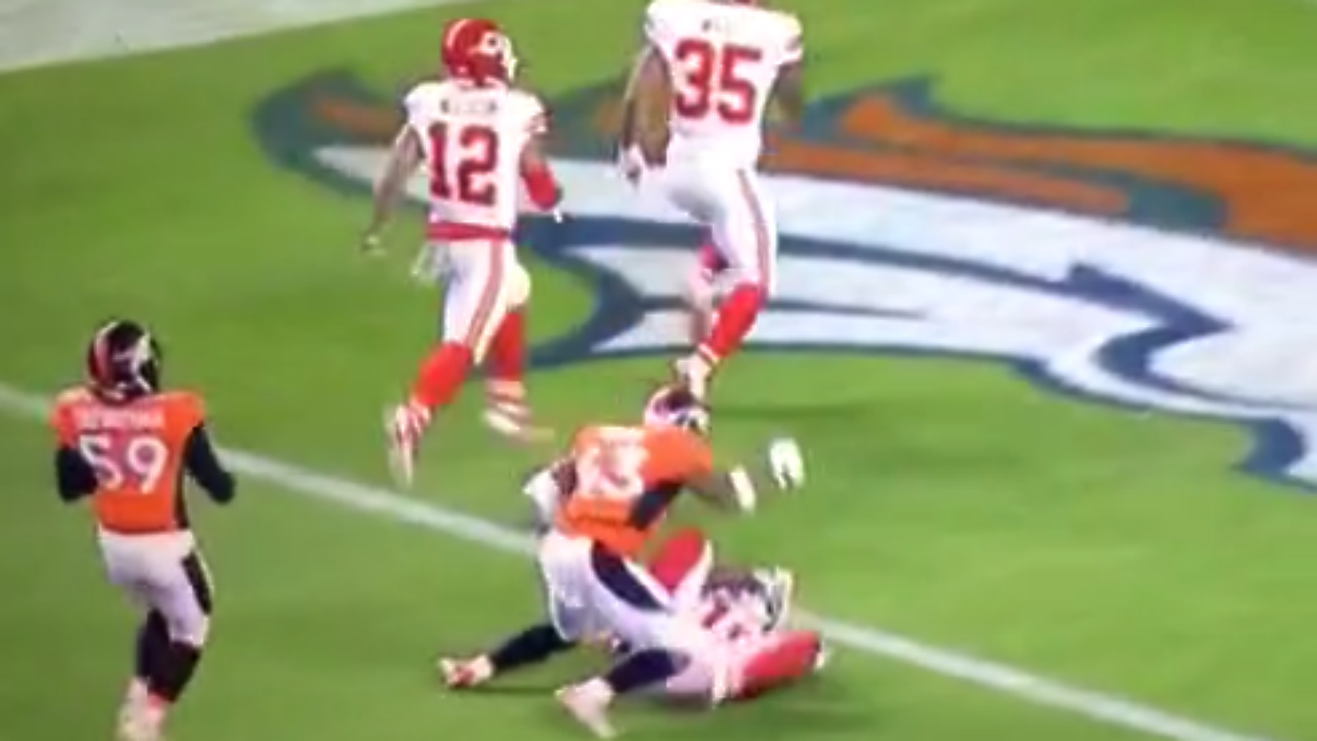 Broncos T J Ward ejected for throwing punch NFL