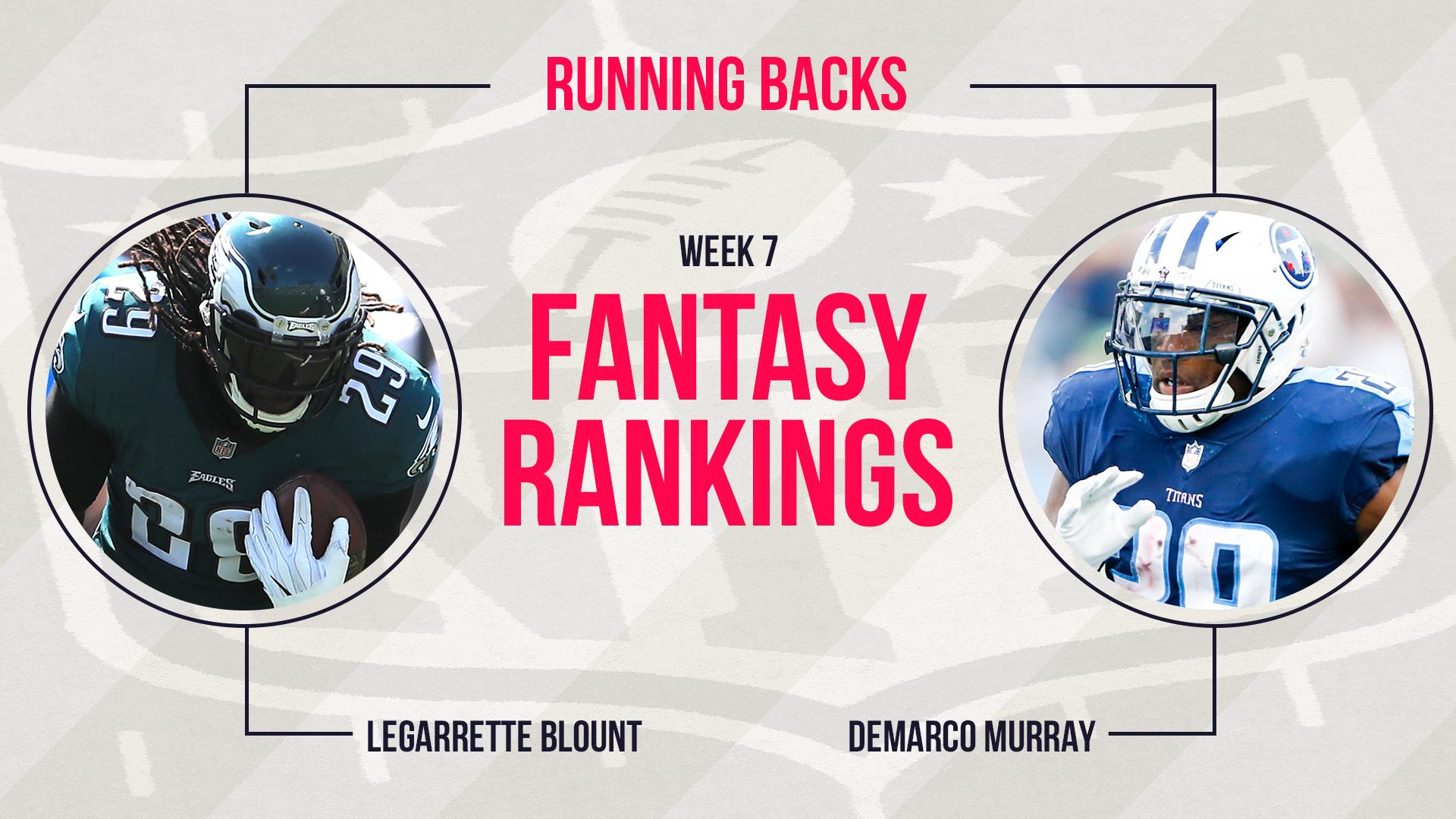 Week 7 Fantasy Rankings: Running back   15 Minute News