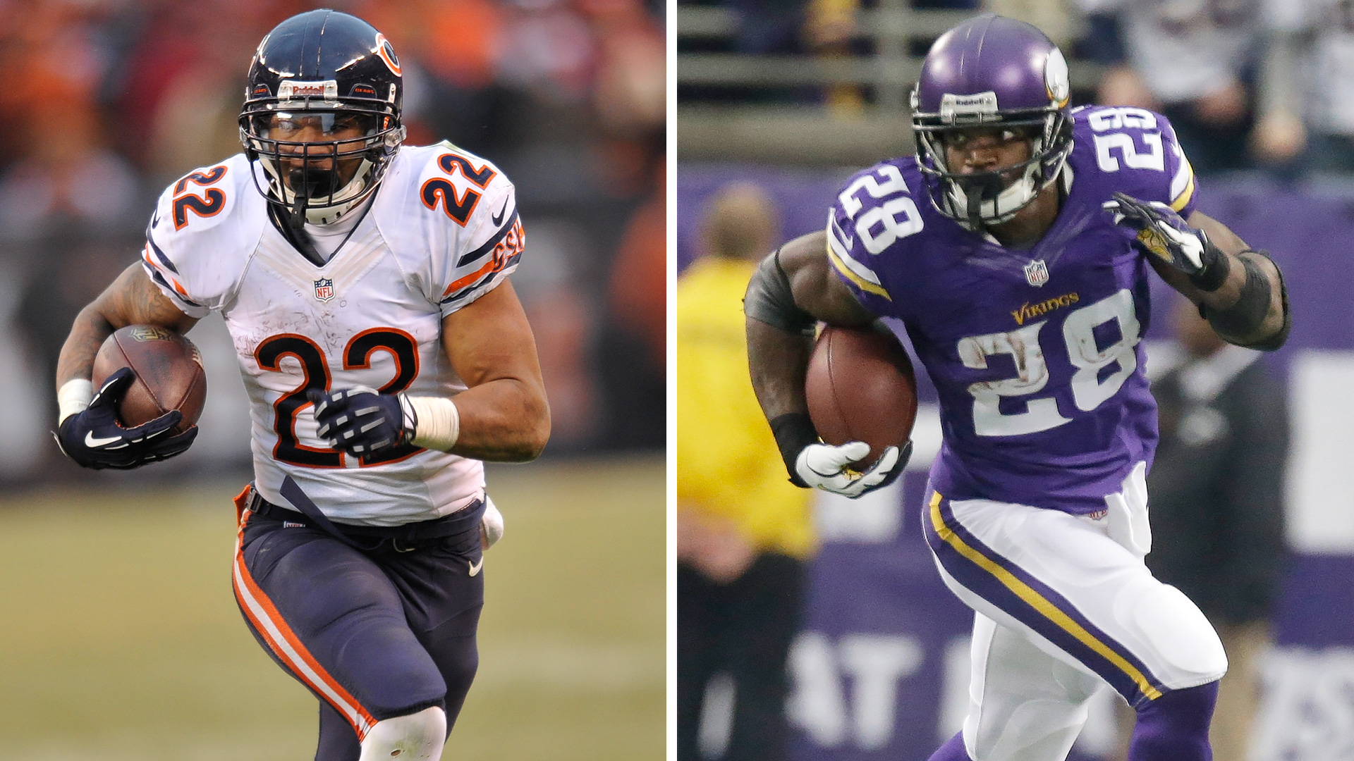 The Decider: Matt Forte vs. Adrian Peterson