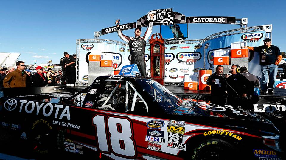 Kyle Busch breaks Martinsville drought with truck race win   NASCAR ...