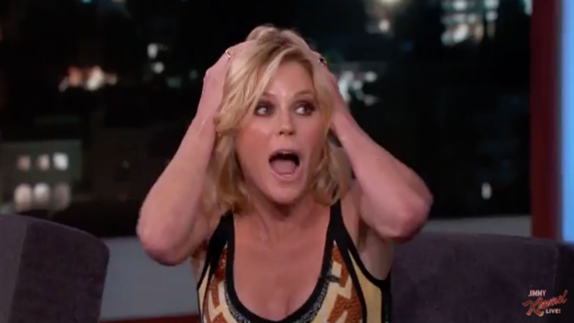 Julie Bowen almost got kicked out of a Lakers game once