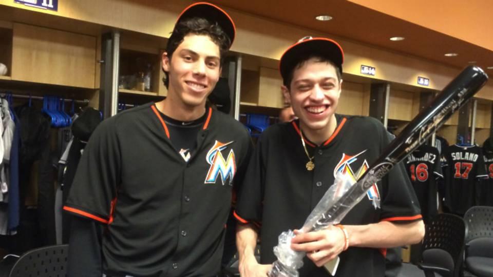 christian-yelich-pete-davidson-marlins-MLB-FTR.
