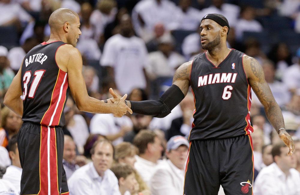 LeBron James and Shane Battier
