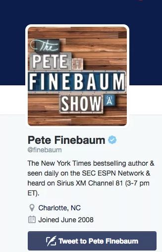 Pete Finebaum Twitter