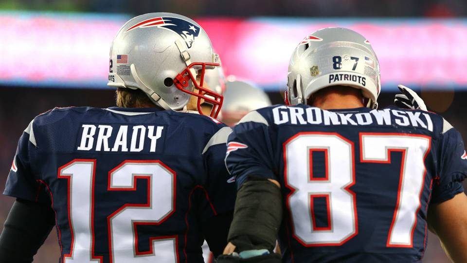 Image result for tom brady and gronk