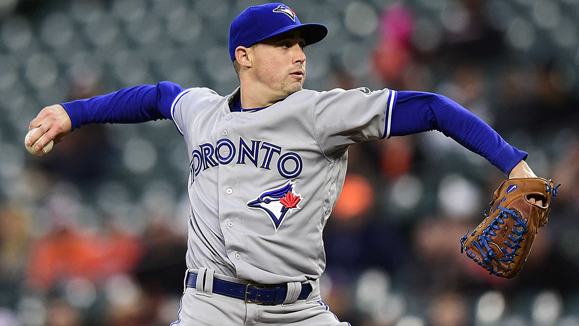 Blue Jays' Aaron Sanchez holds Orioles hitless through seven, then surrenders lead