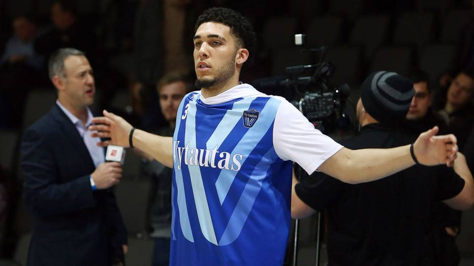 liangelo can declare for nba draft but not even