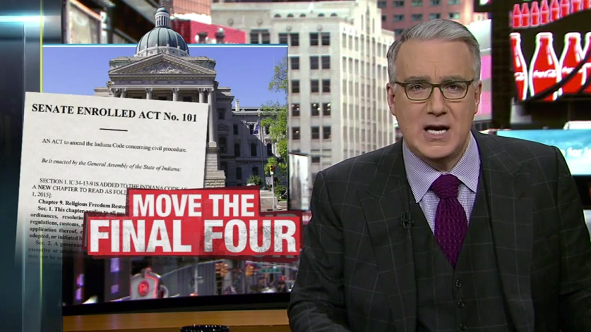 Keith Olbermann calls for NCAA to move 2015 Final Four from Indianapolis