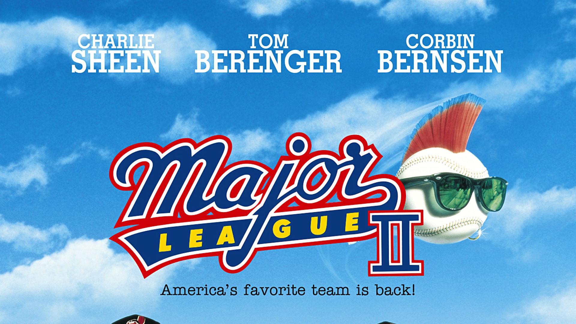 Major league movie poster with autographs