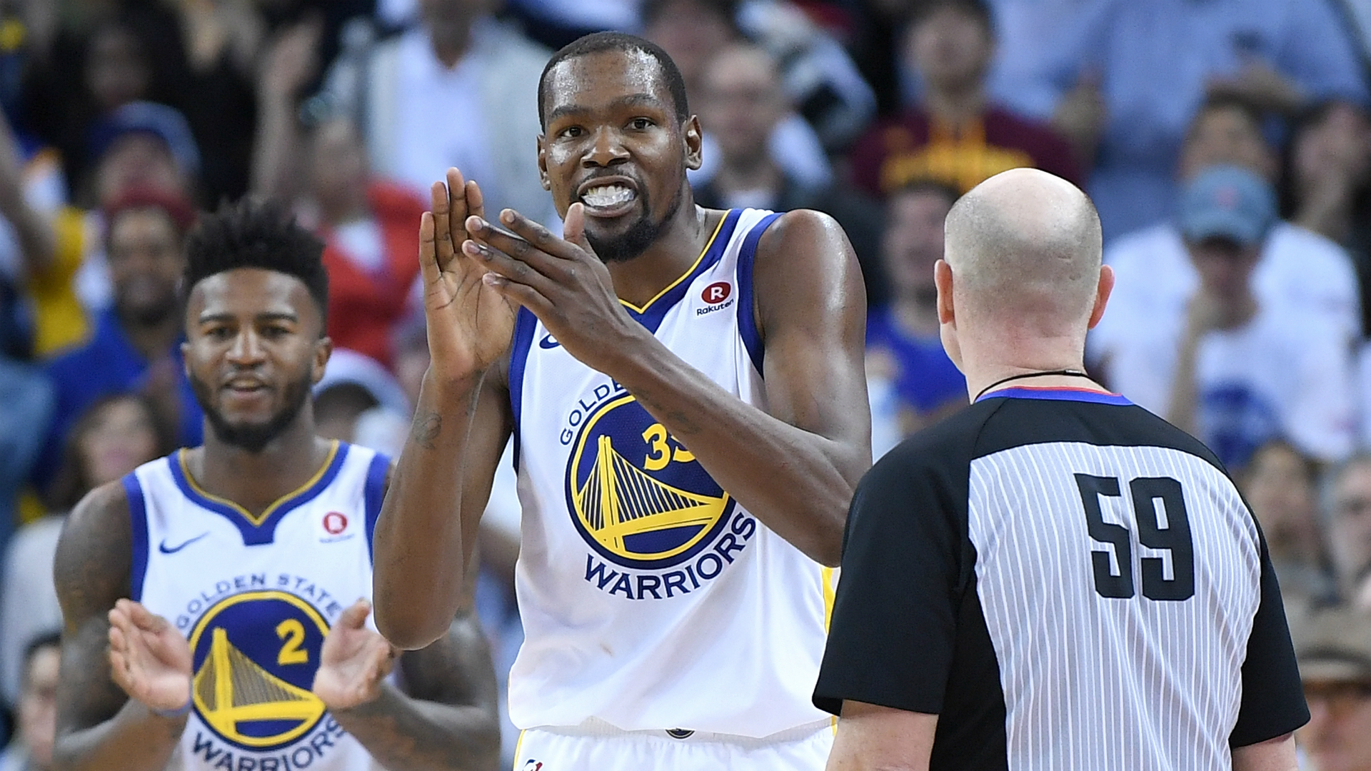 Cavs vs Warriors: NBA fans upset after Kevin Durant gets away with fouls on LeBron James - NBA - Sporting ...