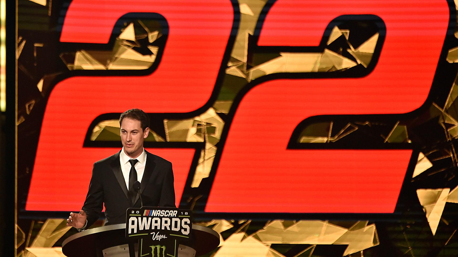 Joey Logano champions foundation during NASCAR awards show speech