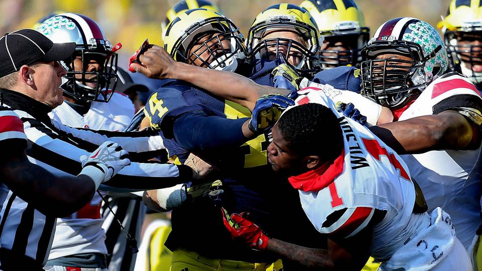 Urban Meyer Warns Ohio State Players About Fighting During Michigan