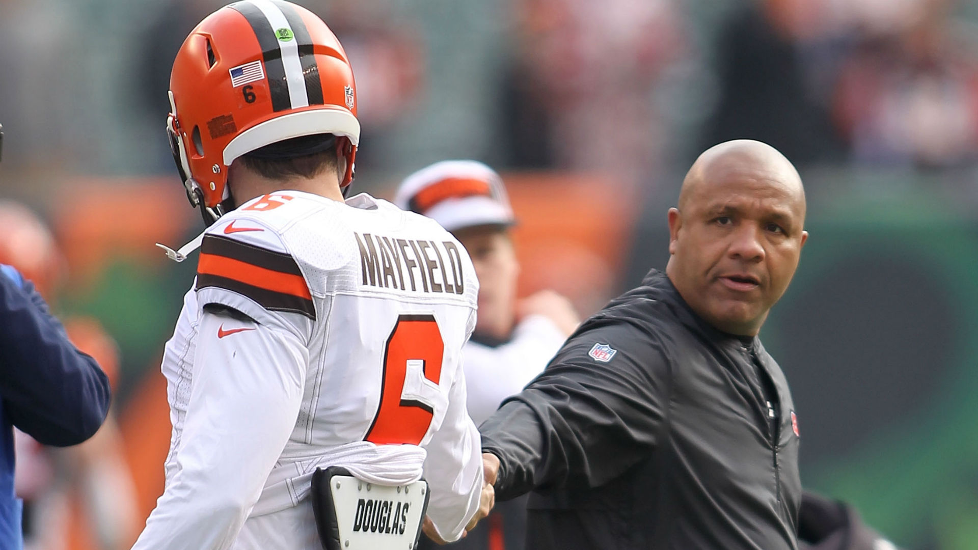 After Further Review: Hue Jackson barb proves growing Baker Mayfield not yet grown up