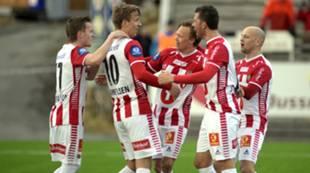 Jubel etter Magnus Andersen-scoring mot TUIL.