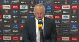 Graham Arnold praised his side's resilience in their 2-0 win over Newcastle Jets.