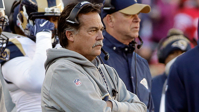 Jeff Fisher searches for challenge flag