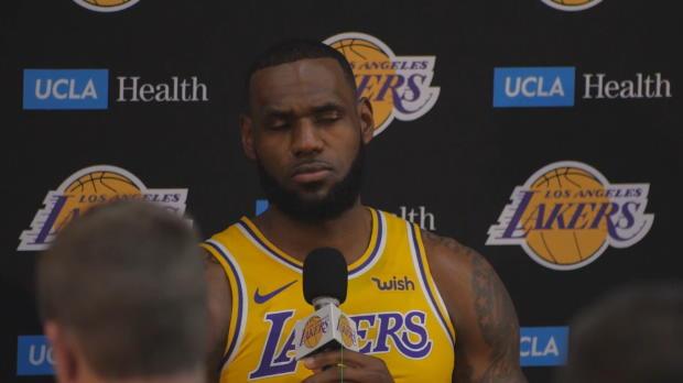 """Basket : Lakers - LeBron - """"Un long chemin à parcourir avant d'atteindre Golden State"""""""