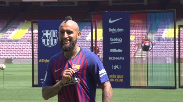 King Arturo bei Barca: Vidal wird vorgestellt