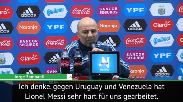 """WM-Quali: Sampaoli: """"Kein Profit"""" trotz Messi"""