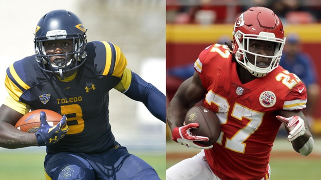 Kareem Hunt morphs from Toledo talent to NFL Chief