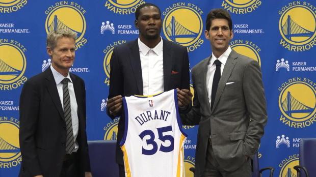 Kevin Durant, ilusionado con el desaf�o de Golden State Warriors
