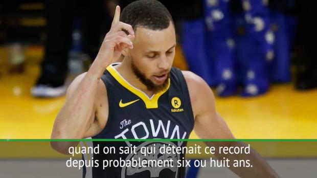 """Basket : Finales - Curry - """"C'est plutôt cool d'avoir ce record"""""""