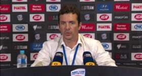 Reds coach Gui Amor says his side will never give up following Friday's heavy home defeat to Perth.