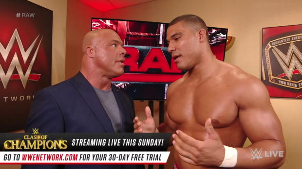 Jason Jordan disagrees with his father, Kurt Angle: Raw, Dec. 11, 2017