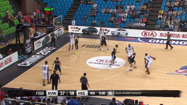 Basket : Kuwait v Hong Kong- Best Block - FIBA Asia Championship 2015