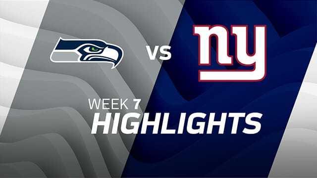 Seattle Seahawks vs. New York Giants highlights   Week 7