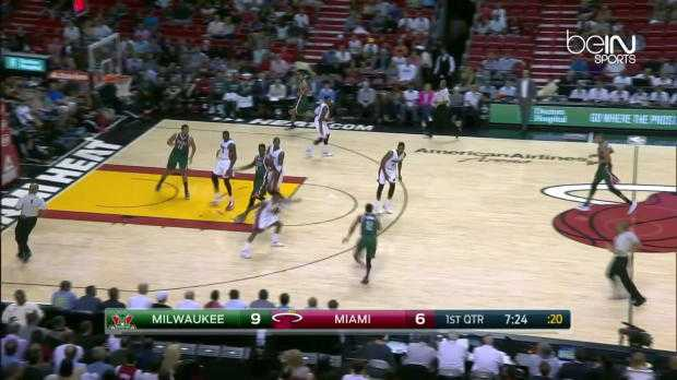 NBA : Bucks 91-84 Heat
