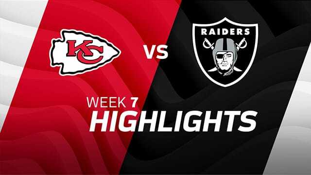 Oakland Raiders vs. Kansas City Chiefs highlights | Week 7