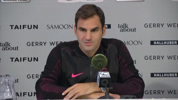 """Halle: Federer: """"Eines meiner besten Spiele"""""""
