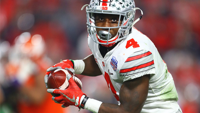 Travelle Wharton announces Panthers' selection of Curtis Samuel No. 40 in the 2017 NFL Draft