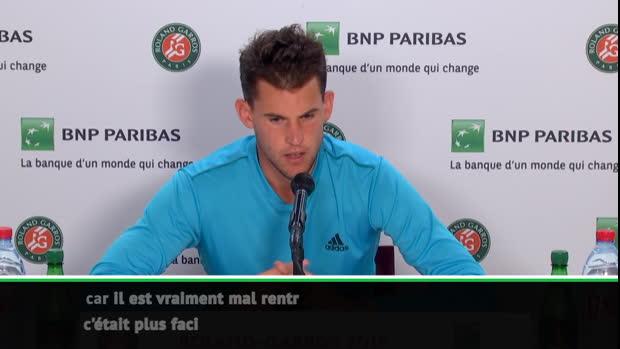 """Basket : Roland-Garros - Thiem - """"Mon meilleur match dans le tournoi"""""""