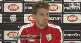 Adelaide United recruit Johan Absalonsen has began training with the club after signing a one-year deal this week.