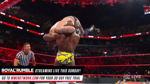 Heath Slater & Rhyno vs. Titus Worldwide: Raw 25, Jan. 22, 2018