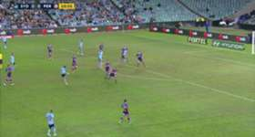 Josh Brillante opened the scoring with a long-range stunner in Sydney FC's semi final win over Perth Glory.