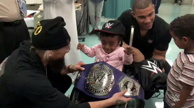 Enzo Amore and Jason Jordan visit Shaikh Khalifa Medical City