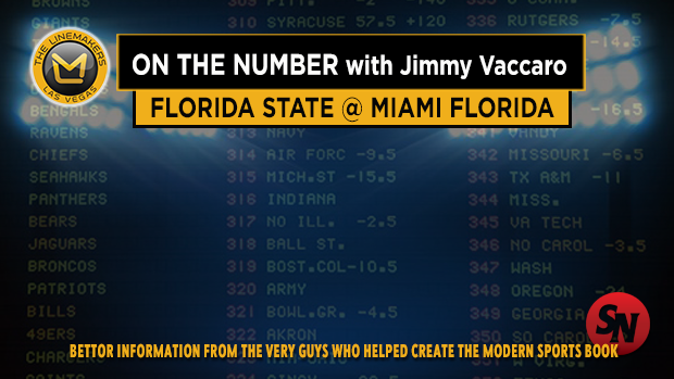 Jimmy V on Florida State @ Miami FL