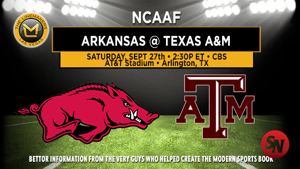 Arkansas Razorbacks @ Texas A&M Aggies