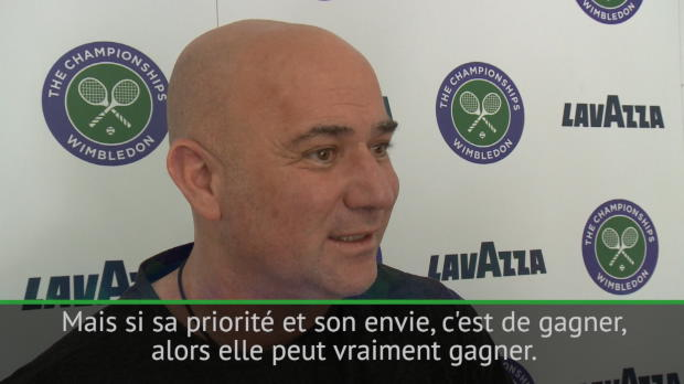 : Wimbledon - Agassi - 'Si Serena y met tout son coeur...'