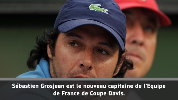 Coupe Davis - Sébastien Grosjean nommé capitaine