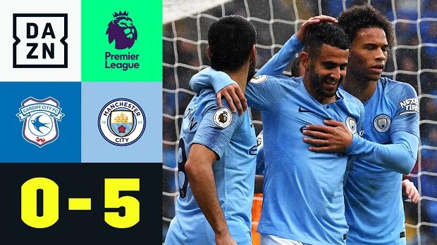 Premier League: Cardiff - Man City | DAZN Highlights