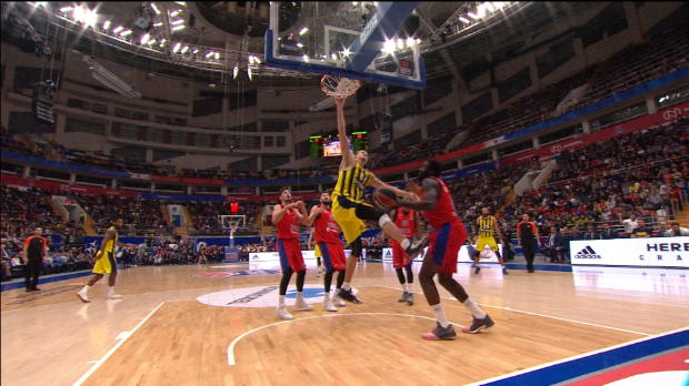 Basket : Euroligue (8e j.) ? La série incroyable de dunks de Vesely (Fenebrahçe)
