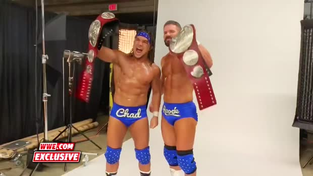 Bobby Roode & Chad Gable's Raw Tag Team Championship photoshoot: WWE.com Exclusive, Dec. 10, 2018
