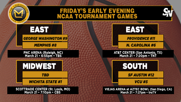 Friday's early-evening NCAA Tournament games
