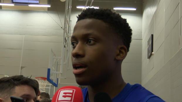 """Basket : NBA - Ntilikina - """"Ce serait un honneur de jouer avec le maillot de l'équipe de France"""""""
